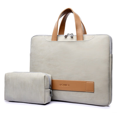 Custodia in pelle PU impermeabile per Macbook pro, 13 / 13.3, 14, 15, laptop da 15.6 pollici per uomo / donna - Beewik-Shop.com