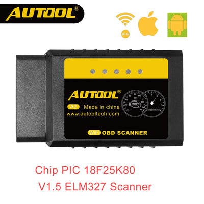 AUTOOL A2 ELM 327 V1.5 Wifi OBD2 Scanner OBD 2 II ELM327 lecteur de Code de Diagnostic de voiture automatique pour Android iOS Win Iphone 25k80 - Beewik-Shop.com