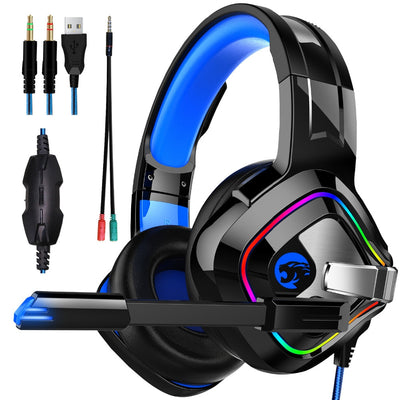 JOINRUN PS4 4D Stereo-RGB-Gaming-Headset mit Mikrofon für neue Xbox One / Laptop / PC, Tablet