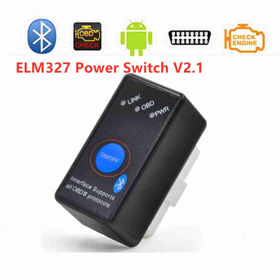 2019 Super Mini ELM327 Bluetooth V2.1 avec interrupteur électrique ELM 327 OBD 2 voiture outil de Diagnostic Scanner couple Android (Black) - Beewik-Shop.com