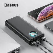 Baseus 20000 mAh batterie externe pour iPhone Samsung Huawei Type C PD Charge rapide + Charge rapide 3.0 USB Powerbank batterie externe