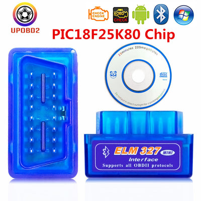 ELM327 Bluetooth OBD 2 Version 1.5 Super MINI 25K80 RealChip elm327 OBDII Scanner outil pour Android Torque ELM 327 Bluetooth OBD2 - Beewik-Shop.com