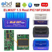 OBD II ELM327 PIC18F25K80 Bluetooth V1.5 Scanner automatique orme 327 25K80 2 couches PCB OBDII Scanner de Diagnostic matériel 1.5 Android PC - Beewik-Shop.com