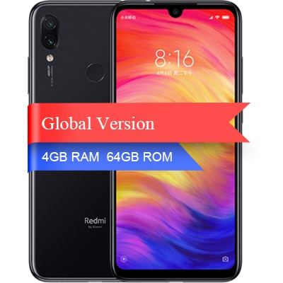 "Version mondiale Xiaomi Redmi Note 7 4 GB 64 GB smartphone Snapdragon 660 Octa Core 4000 mAh 6.3 ""2340*1080 48MP + 5MP téléphone portable"