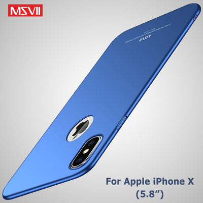Pour iphone X XS XR housse de protection MSVII Silm étui pour Apple iphone XS Max Coque Ultra mince housse de protection pour iphone XR étui pour iphone x - Beewik-Shop.com