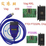 OBD2 FT232RL Vag-Com Interface câble KKL VAGCOM 409.1 voiture Auto USB obd 2 OBD Diagnostic Scanner Vag Usb câble Interface outil - Beewik-Shop.com