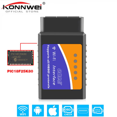 Scanner universel OBD2 WIFI ELM327 V 1.5 pour outil de numérisation OBDII automatique Android/IOS Diagnostic de voiture OBD 2 ODB II ELM327 V1.5 WI-FI ODB2 (EML327 WIFI) - Beewik-Shop.com