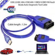 Câble USB automatique de voiture KKL VAG-COM 409.1 OBD2 II OBD WINDOWS 98/ME/2000/NT et XP Scanner de Diagnostic V W Interface vag-com (English) - Beewik-Shop.com