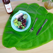 Nappe de décoration murale de table en forme de feuille de banane verte d'Hawaii - Beewik-Shop.com