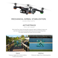 DJI Spark Mini Drone - 1080P Camera, 12MP CMOS, 3D Sensor System, WiFi, FPV, 50KM/h, Gesture Mode, Auto Take-Off And Landing - Beewik-Shop.com