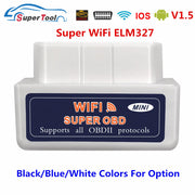 Scanner OBD2 ELM327 V1.5 WIFI OBD 2 Scanner de Diagnostic automobile pour voiture OBDII ELM 327 WI-FI 1.5 V1.5 Code outil de Diagnostic lire - Beewik-Shop.com