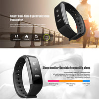 C9 Sports Bracelet Heart Rate Monitor Blood Pressure Calorie Counter Pedometer(Black) - Beewik-Shop.com
