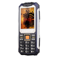 VKWorld Stone V3S Rugged Phone - IP54, Keypad, Dual-IMEI, 2200mAh Removable Battery, Flashlight (Blue) - Beewik-Shop.com