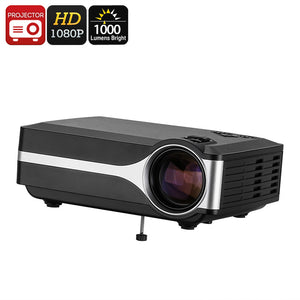 DLP Projector - FHD Support, 1000 Lumen LED, 800x480p Native Resolution, Built-In Speaker, HDMI, VGA, AV, USB - Beewik-Shop.com