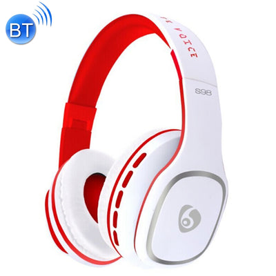 OVLENG S98 Bluetooth V2.1+EDR Wireless Stereo Noise Isolating Headset with Microphone, Support FM Radio & TF Card, For iPhone, Samsung, Huawei, Xiaomi, HTC and Other Smartphones, All Audio Devices(White) - Beewik-Shop