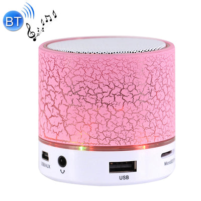 A9 Mini Portable Bluetooth Stereo Speaker, with Built-in MIC & LED, Support Hands-free Calls & TF Card & AUX IN, Bluetooth Distance: 10m(Pink) - Beewik-Shop.com