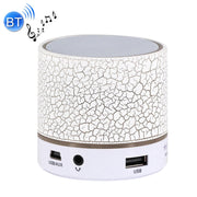 A9 Mini Portable Bluetooth Stereo Speaker, with Built-in MIC & LED, Support Hands-free Calls & TF Card & AUX IN, Bluetooth Distance: 10m(White) - Beewik-Shop.com