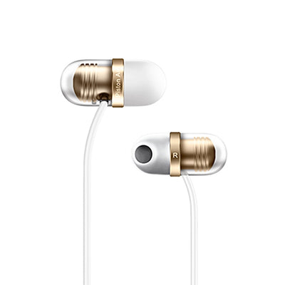 Original Xiaomi JNEJ01JY Capsule Earphone In-Ear Stereo Bass Wired Ear Cup With MEMS Microphone, For iPhone, iPad, iPod, Xiaomi, Samsung, Huawei and Other Smartphones with 3.5mm Earphone Port(White) - Beewik-Shop.com