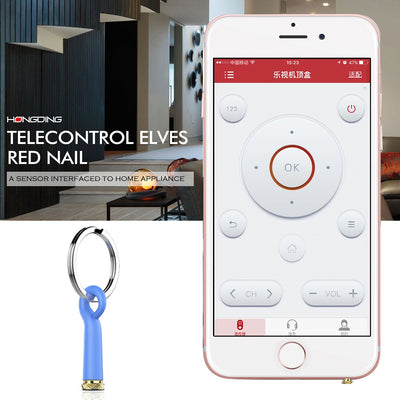 Baseus Mini Telecontrol Elves Red Nail Earphone Port Dust Plug with Silicone Shell & Key Ring, For iPhone & iPad Above iOS 7, IR Remote Control TV / Air Conditioner / Projector / Power Amplifier / Fans / Bulb(Blue)