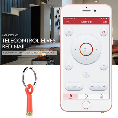 Baseus Mini Telecontrol Elves Red Nail Earphone Port Dust Plug with Silicone Shell & Key Ring, For iPhone & iPad Above iOS 7, IR Remote Control TV / Air Conditioner / Projector / Power Amplifier / Fans / Bulb(Red)