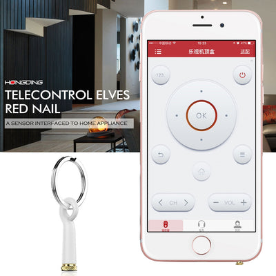 Baseus Mini Telecontrol Elves Red Nail Earphone Port Dust Plug with Silicone Shell & Key Ring, For iPhone & iPad Above iOS 7, IR Remote Control TV / Air Conditioner / Projector / Power Amplifier / Fans / Bulb(White) - Beewik-Shop.com