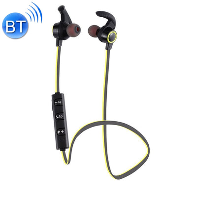 AMW-810 Bluetooth 4.1 Stereo Wireless In-ear Sports Earphone Headphone with Microphone, Bluetooth Distance: 10m, For iPhone & iPad & Android Smart Phones or Other Bluetooth Audio Devices(Yellow) - Beewik-Shop.com