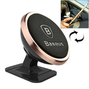 Baseus 360 Degree Rotatable Universal Magnetic Mount Holder with Sticker, For iPhone, Galaxy, Huawei, Xiaomi, LG, HTC and Other Smart Phones(Rose Gold) - Beewik-Shop.com