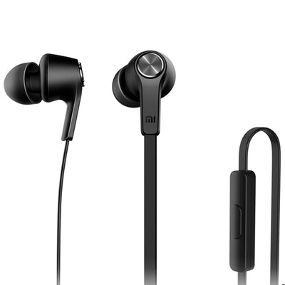 Original Xiaomi HSEJ02JY Basic Edition Piston In-Ear Stereo Bass Earphone With Remote and Mic, For iPhone, iPad, iPod, Xiaomi, Samsung, Huawei and Other Android Smartphones(Black) - Beewik-Shop.com