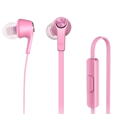 Original Xiaomi HSEJ02JY Basic Edition Piston In-Ear Stereo Bass Earphone With Remote and Mic, For iPhone, iPad, iPod, Xiaomi, Samsung, Huawei and Other Android Smartphones(Pink) - Beewik-Shop.com