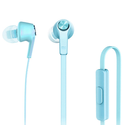 Original Xiaomi HSEJ02JY Basic Edition Piston In-Ear Stereo Bass Earphone With Remote and Mic, For iPhone, iPad, iPod, Xiaomi, Samsung, Huawei and Other Android Smartphones(Blue) - Beewik-Shop.com