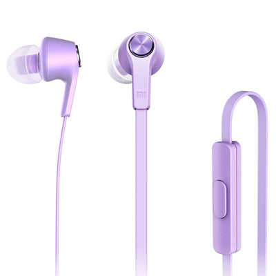 Original Xiaomi HSEJ02JY Basic Edition Piston In-Ear Stereo Bass Earphone With Remote and Mic, For iPhone, iPad, iPod, Xiaomi, Samsung, Huawei and Other Android Smartphones(Purple) - Beewik-Shop.com