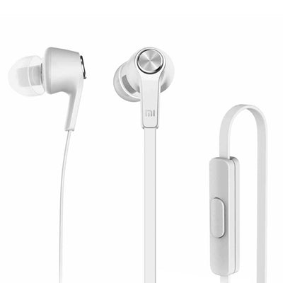 Original Xiaomi HSEJ02JY Basic Edition Piston In-Ear Stereo Bass Earphone With Remote and Mic, For iPhone, iPad, iPod, Xiaomi, Samsung, Huawei and Other Android Smartphones(Silver) - Beewik-Shop.com