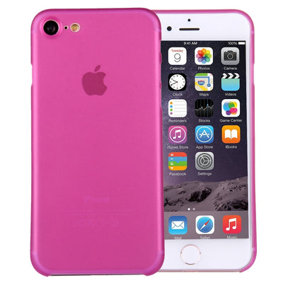 For  iPhone 8 & 7  Ultrathin Superlight Transparent PP Protective Case(Magenta) - Beewik-Shop