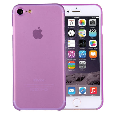 For  iPhone 8 & 7  Ultrathin Superlight Transparent PP Protective Case(Purple) - Beewik-Shop