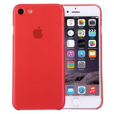 For  iPhone 8 & 7  Ultrathin Superlight Transparent PP Protective Case(Red) - Beewik-Shop