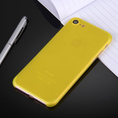 For  iPhone 8 & 7  Ultrathin Superlight Transparent PP Protective Case(Yellow) - Beewik-Shop