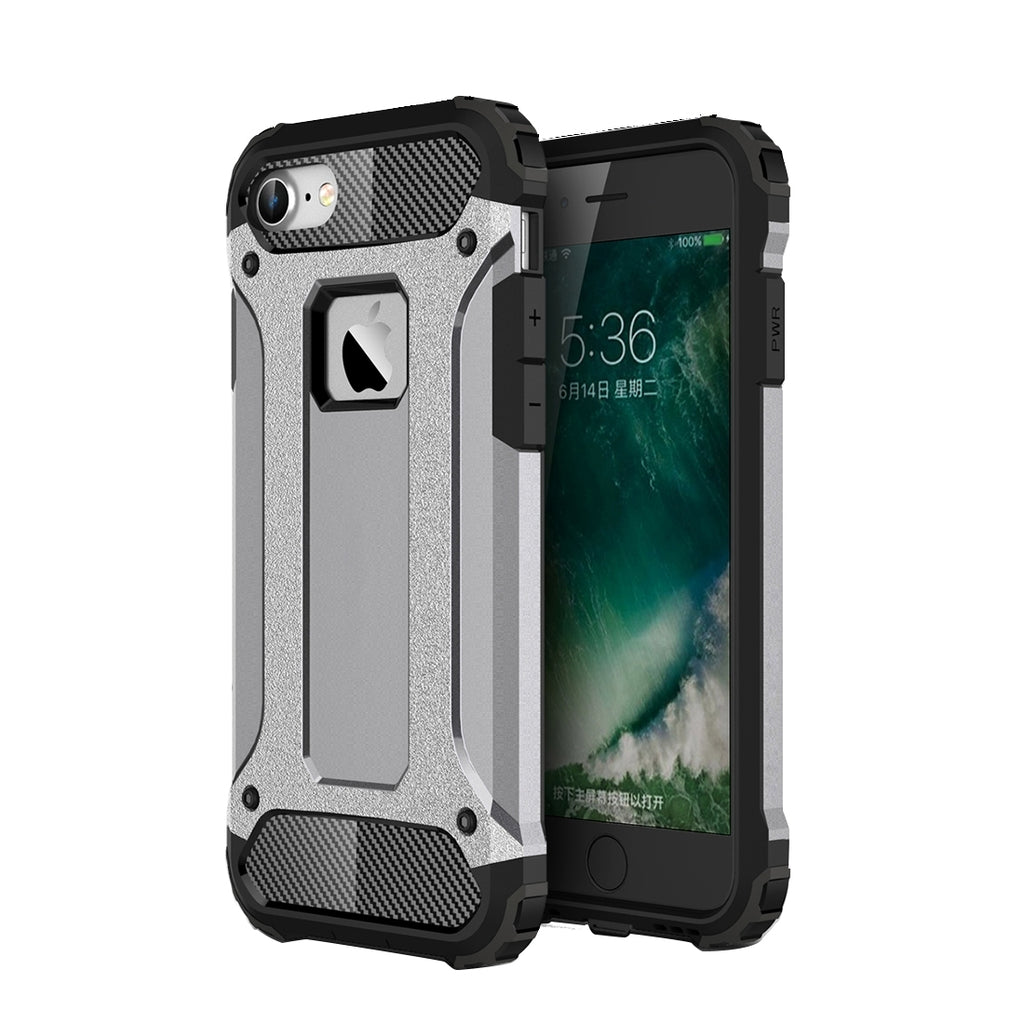 premium selection 62d6a a100f For iPhone 8 & 7 Tough Armor TPU + PC Combination Case(Grey)