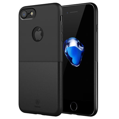Baseus for  iPhone 8 & 7  Arc Edge The Whole Package TPU+PC Soft and hard Mosaic Combination Protective Case(Black) - Beewik-Shop.com