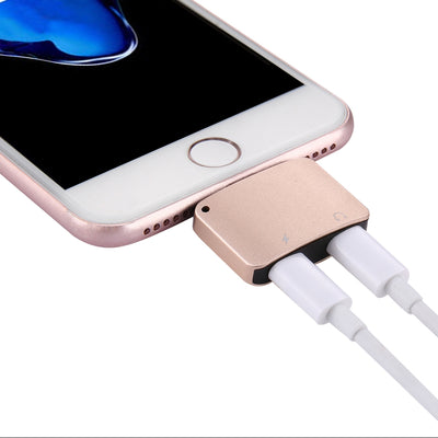 8 Pin Male to 8 Pin Female Charger & 8 Pin Female Audio Adapter, Support iOS 11.0.2 Mobile Phones, For iPhone X / iPhone 8 & 8 Plus / iPhone 7 & 7 Plus(Gold) - Beewik-Shop.com