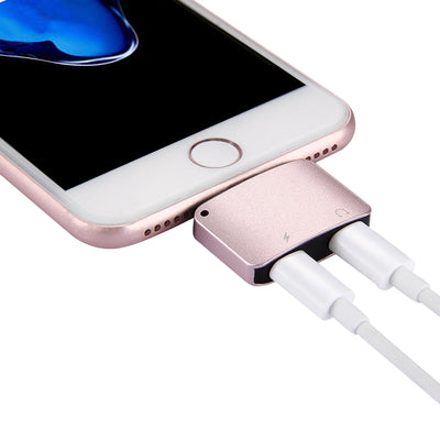8 Pin Male to 8 Pin Female Charger & 8 Pin Female Audio Adapter, Support iOS 11.0.2 Mobile Phones, For iPhone X / iPhone 8 & 8 Plus / iPhone 7 & 7 Plus (Rose Gold) - Beewik-Shop.com