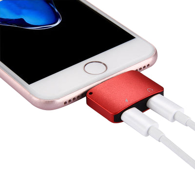 8 Pin Male to 8 Pin Female Charger & 8 Pin Female Audio Adapter, Support iOS 11.0.2 Mobile Phones, For iPhone X / iPhone 8 & 8 Plus / iPhone 7 & 7 Plus (Red) - Beewik-Shop.com