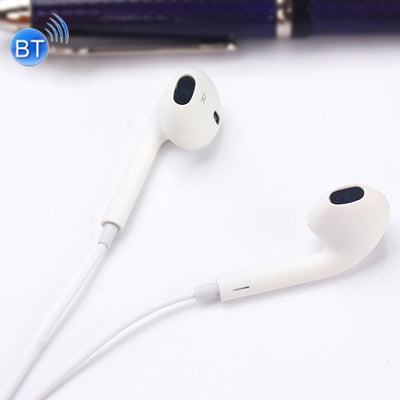 BT-10 Wireless Bluetooth Ear Headphone Sports Headset with Microphones, for Smartphone, Built-in Bluetooth Wireless Transmission, Transmission Distance: within 10m(White) - Beewik-Shop.com
