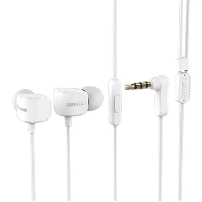 Remax RM-502 Elbow 3.5mm In-Ear Wired Heavy Bass Sports Earphones with Mic, for iPhone, Samsung, HTC, Sony and other Smartphones(White) - Beewik-Shop.com