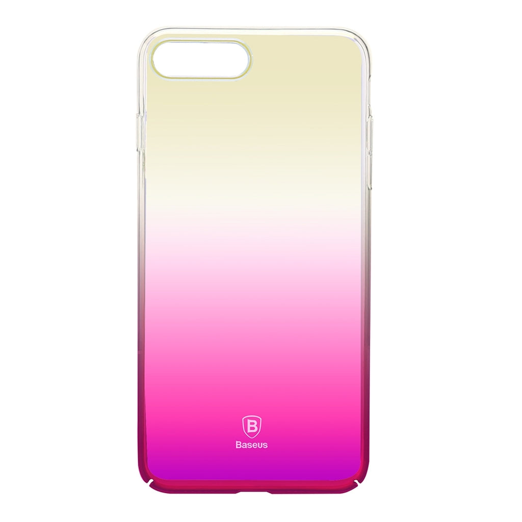 check out ef725 f083b Baseus for iPhone 8 Plus & 7 Plus Glaze PC Gradient Color Protective  Case(Pink)