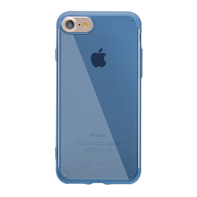 Baseus for  iPhone 8 & 7  Simple Series Ultrathin Soft Transparent TPU Anti-Scratch Protective Back Cover Case(Blue) - Beewik-Shop.com