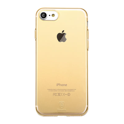 Baseus for  iPhone 8 & 7  Simple Series Soft Transparent TPU Protective Back Cover Case(Gold) - Beewik-Shop.com