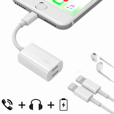 8 Pin Male to 8 Pin Female Sync Data / Charger & 8 Pin Female Audio Adapter, Support iOS 10.3.1 or Above Mobile Phones, for iPhone X / iPhone 8 & 8 Plus / iPhone 7 & 7 Plus - Beewik-Shop.com