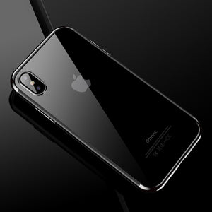 CAFELE For iPhone X Semi Electroplating Side TPU Protective Back Cover Case (Silver) - Beewik-Shop