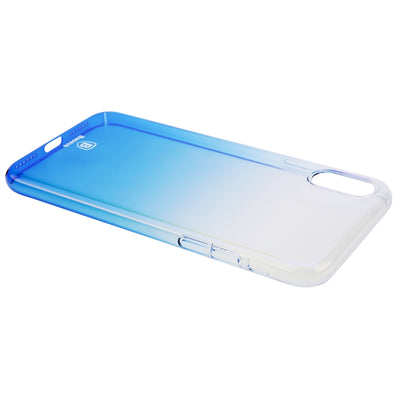 Baseus for iPhone X Hard PC Gradient Color Protective Case Cover(Blue) - Beewik-Shop.com
