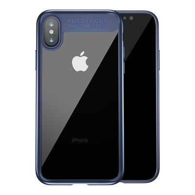 Baseus for iPhone X Ultra-thin PC + TPU Protective Back Cover Hard Case(Blue) - Beewik-Shop.com